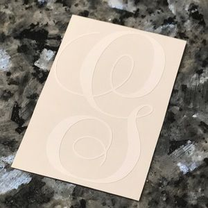 """Other - G script white 3"""" decal"""